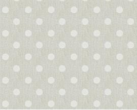 Tapeta 36148-3 Białe kropki na beżowym tle