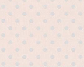 Tapeta 36148-1 Szare kropki na różowym tle