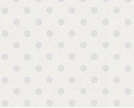 Tapeta 36148-2 Szare kropki na białym tle