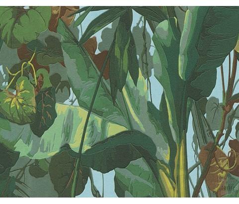 Tapeta 9589-81 Zielone Liście Palmy