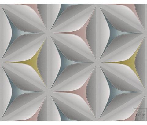 Tapeta 96042-2 Graficzne Wzory-Kwiaty Kolorowe 3D
