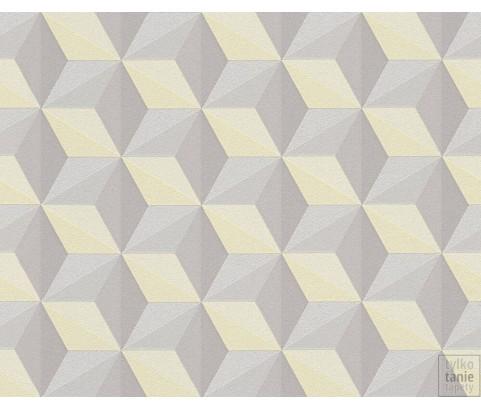 Tapeta 96255-3 Cytrynowe Sześciany-Wzory 3D