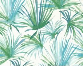 Tapeta 36624-2 Zielone Liście Palmy
