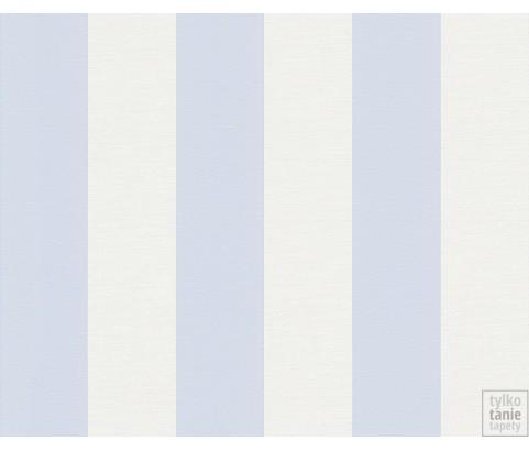 Tapeta 3140-24 Biało Błękitne Pasy